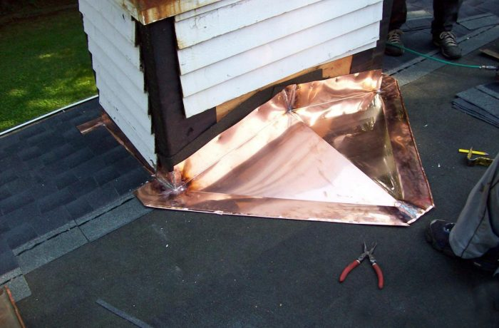 Chimney Flashing – before