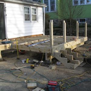 Deck Project – during