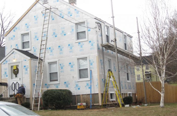 Siding Replacement Project – during